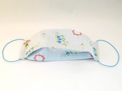 Behelfsmaske Typ2 - Motiv Blumen hellblau
