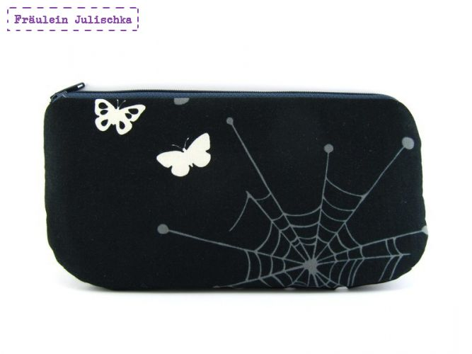 Makeup-Täschchen Spinnennetz & Schmetterlinge