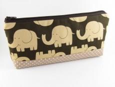 Tasche für Diabetikerbedarf  / große Kosmetiktasche Elefanten mit Innentaschen