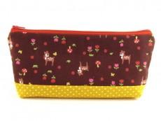 Tasche für Diabetikerbedarf  / große Kosmetiktasche Rehe & Blumen