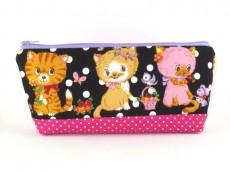 Tasche für Diabetikerbedarf  / große Kosmetiktasche Katzen