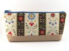 Tasche für Diabetiker / große Kosmetiktasche  Blumenranke