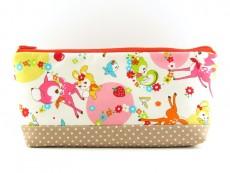 Tasche für Diabetikerbedarf  / große Kosmetiktasche Rehe und Freunde