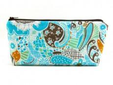 Tasche für Diabetikerbedarf  / große Kosmetiktasche Phantasiemuster