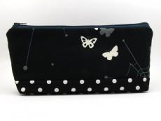 Tasche für Diabetikerbedarf / große Kosmetiktasche Schmetterlinge und Spinnennetz