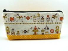 Tasche für Diabetikerbedarf  / große Kosmetiktasche russische Motive