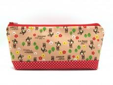 Tasche für Diabetikerbedarf / große Kosmetiktasche Rehchen und Blumen
