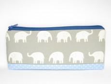 Stiftemäppchen Elefanten grau