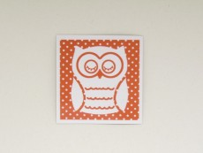 Magnetbild Eule Orange