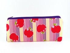 Stiftemäppchen Äpfel & Streifen