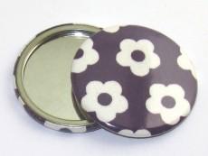 Taschenspiegel Blumen lila